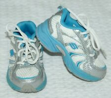 Sketchers Tennis Shoes Infant Toddler Sz 5 12-18 M Blue White Silver $45 New Fbb