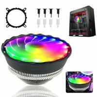 RGB LED CPU Cooler Fan Heatsink Socket 5 Color