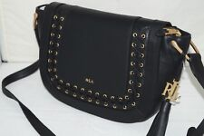 NWT Authentic $250 RALPH LAUREN Black Leather Cross Body Bag