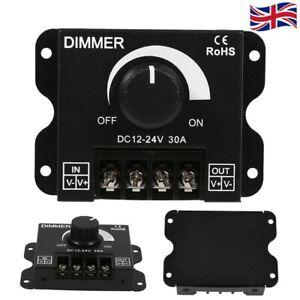 UK DC 12V-24V 30A LED Light Lamp Dimmer Controller Rotate Switch Panel Module