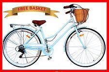 Vintage Retro Ladies Beach Cruiser Bicycle / Bike Basket 66cm Blue