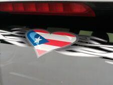 Puerto Rico Flagge - Tribal Herz Windshield Sticker Für Fenster Honda Toyota