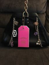 Versace H&M Leather Handbag - Black with Gold Chains - NWT