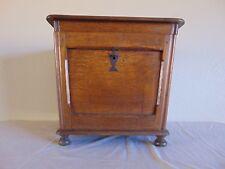 Antique Oak Wine Liquor Cabinet