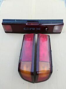Honda Crx 90-91 Tail Lights edm center garnish with fog light