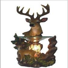 Deer Fragrance Lamp Oil Wax Warmer Burner Electric Polyresin Nightlight Set