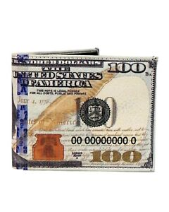 Men's New $100 Dollar Bill Wallet Novelty Fun Accessories Gift Box Included
