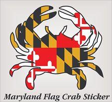 "Maryland Crab Sticker 4""x4"" adhesive backed digitally printed vinyl sticker."