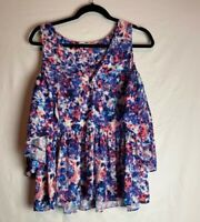 Rebecca Minkoff Women's Cold Shoulder Blouse Floral Size XS