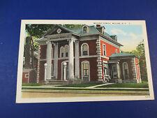 Masonic Temple, Malone,Ny Vintage Colorful Postcard Unused Pc14