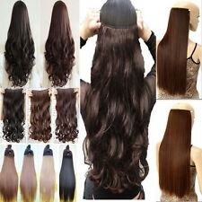 Hair extensions ebay real thick as human hair 1piece full head clip in hair extensions straight wavy pmusecretfo Gallery