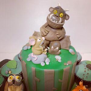 Gruffalo themed cake Toppers / Edible Sugar Cake Decoration