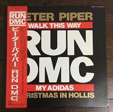 "RUN DMC - My Adidas / Peter Piper 12"" Rare Japanese issue +OBI 86' Mint"