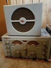 NATIONAL NC-183 TUBE HAM RADIO RECEIVER WITH ORIGINAL SPEAKER - WORKS!