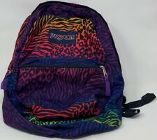 """Backpack Jansport Multi Color 1 Large Compartment 16.5x12x5.5"""" Women's Mens"""