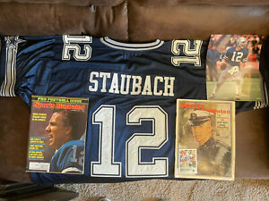 Roger Staubach Dallas Cowboys autographed sports jersey with COA