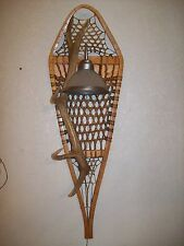 REAL ELK-WHITETAIL DEER-MOOSE-ANTLER SHED HORN SNOWSHOE SCONCE LIGHT/LAMP #35