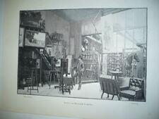 GRAVURE ATELIER D'EDOUARD DETAILLE 1900