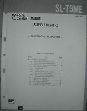 SONY SL-T9ME Supplement 1 zum Adjustment Manual