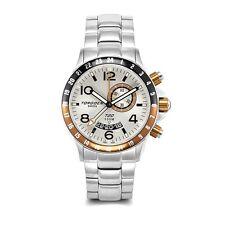New Torgoen Swiss T20 Men's Alarm GMT / Dual Time Quartz Pilot Sport Wrist Watch