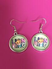 Lion King Earrings/Dangle Hook Earrings/ Women/Charm/Simba/Jungle/Lion/Classic