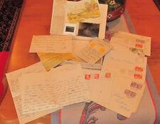Vintage Stamped Letters Correspondence Post Card Denmark 1940-1960's  Photos DK