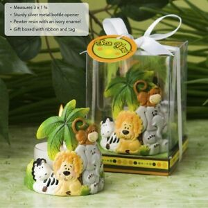 25 Jungle Animal Critters Candle Baby Shower Christening Birthday Party Favors