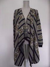 Lovely NEXT Cream and brown Waterfall Cardigan - Sz M