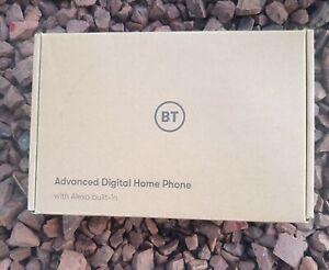 BT Advanced Digital Home Phone With Alexa Built-in Black Handset Wireless BH NEW