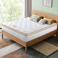 BedStory 12 Inch Gel Infused Memory Foam Hybrid Mattress Twin Full Queen King US