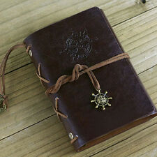 Qu_ Helm String Faux Leather Journal Travel Blank Diary A5 Loose-leaf Notebook D