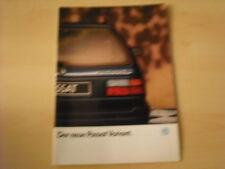 50547) VW Passat Variant Prospekt 09/1988