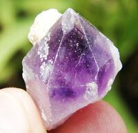 13.8g A+ New Find Deep Purple Amethyst Tibetan Skeletal Quartz Crystal Specimen