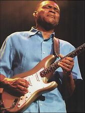 Robert Cray w/ Fender Buddy Holly Tribute Stratocaster Guitar 8 x 11 pinup photo