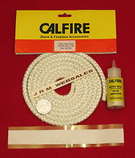 8mm Stove Sealing Rope kit -  Fire Rope 2mtr Length - White C/w Adhesive + Tape