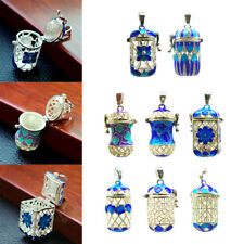 Essential Oil Diffuser Pendant Perfume Cage Locket Hollow Out Enamel Bottle