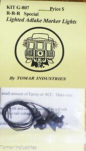 Tomar Industries #G-807S (Special) Lighted Adlake Marker Lights R-R-R