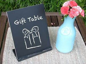 Single Chalk Stand with Black Wooden Holder; Wedding Table Sign