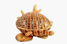 Hand Made Shell Trinket Box By Ciel Collectables. Made with Swarovski Crystals