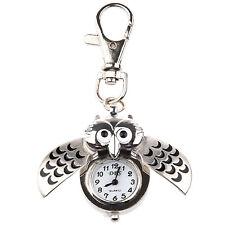 W6 Elegant Owl Watch Clip Pocket Watch Keychain Best Gift