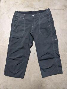 Kuhl Womens Size 8 Utility Trail Hiking Cropped Pants Capri Green Pockets