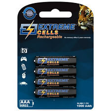 Extremecells 4er Pack Micro AAA Battery HR03 Batteries NI-MH Wieder Rechargeable