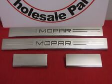 "Chrysler 300 Dodge Charger Chrome ""Mopar"" Logo Door Sill Protectors OEM MOPAR"