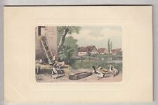 CPA  ART ANIMAL - AGRICULTURE AVICULTURE COQ ROOSTER CANARD DUCKS VERS 1910 ~B42