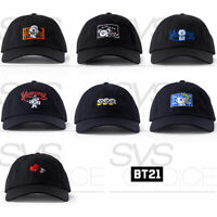 BTS BT21 Official Authentic Goods BITE Embroidery Ball Cap 57cm 22.4in + Track#