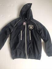 NFL Raiders Black Polyester Track Suit Top (Medium)