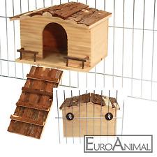 Nagerhaus 31x22,5x20cm Kaninchenhaus Gitterbefestigung Meerschweinchen Haus