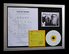 UB40 Food For Thought TOP QUALITY CD MUSIC LTD FRAMED DISPLAY+FAST GLOBAL SHIP