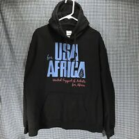 USA For Africa Hoodie Sweatshirt Men's Size XL