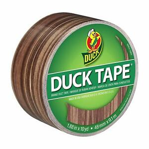 Duck Brand 283051 Printed Duct Tape, Woodgrain, 1.88 Inches x 10 Yards